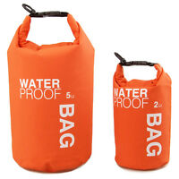 5L Waterproof Storage Dry Sack Bag Pouch Boating Kayaking Canoeing Floating Bag#