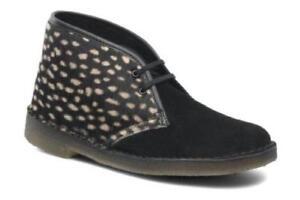 Nuevas para de 5 5 Clarks Clarks gamuza 5 mujer botas negras desérticas y Originals a6agqnr