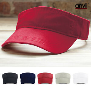 a4822d3d Anvil Unisex Low Profile Twill Tennis Visor (158) - Plain Sun Cap ...