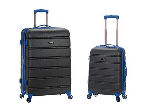 Rockland Luggage 20 Inch and 28 Inch 2 Piece Expandable Spinner Set Yellow