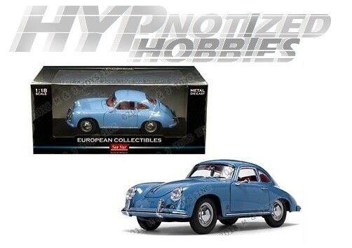 SUNSTAR 1 18 1957 PORSCHE 356A 1500 GS CARRERA GT DIE-CAST AQUAMARINE blu 1342