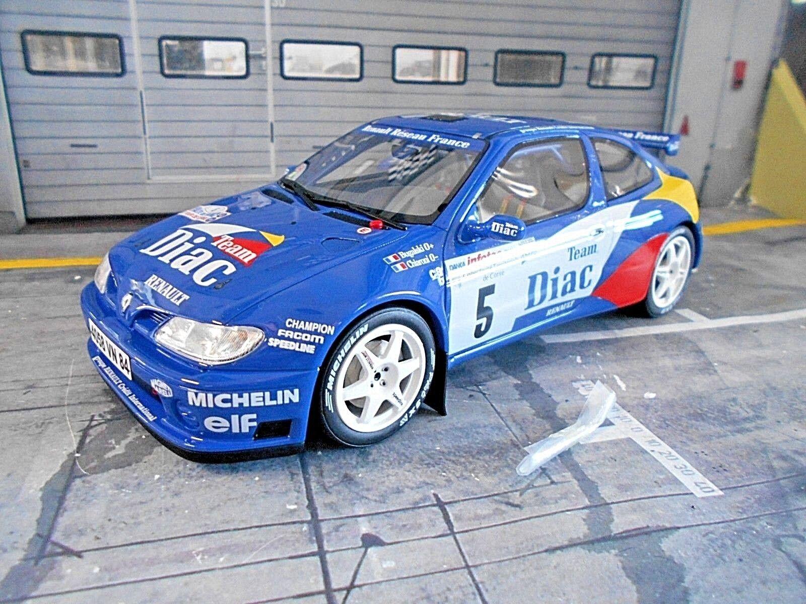 Renault megane maxi - auto - rallye - tour de corse 1996 bugalski otto neu neue 1,18