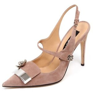 nuovo concetto d87dd be8b0 Details about F0946 sandalo donna pink SERGIO ROSSI SR1 scarpe suede shoe  woman