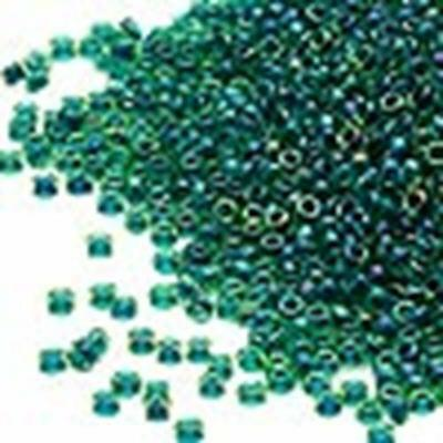 Miyuki Size 15 Seed Beads Fancy Forest Green # 332