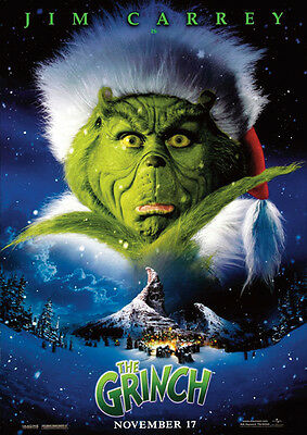 Dr Seuss How the Grinch Stole Christmas Repro Film POSTER
