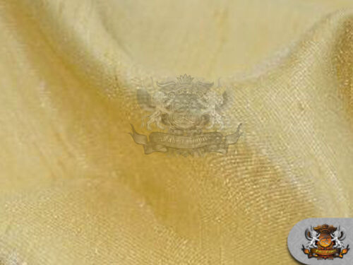 """60/"""" Wide Sold by the yard Satin Shantung Solid Fabric GOLD"""