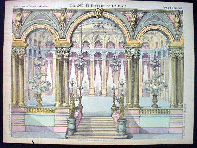 PELLERIN Imagerie d'epinal-grand Teatro Nouveau N 1628 Palacio inv1748