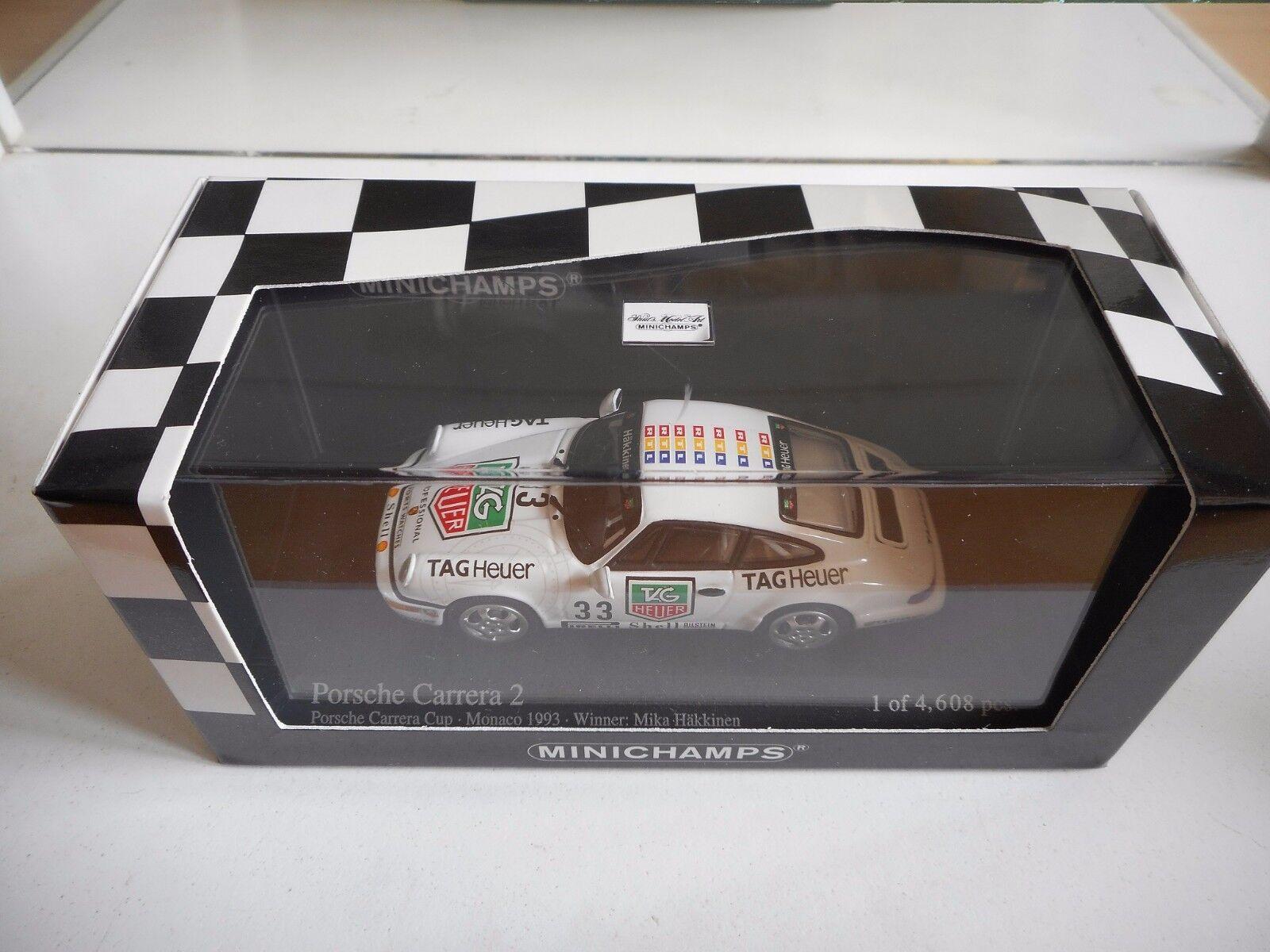 Minichamps Porsche 911 Carrera 2 Carrera Cup '83 Monaco Winner Winner Winner - White -1 43 Box 201f14