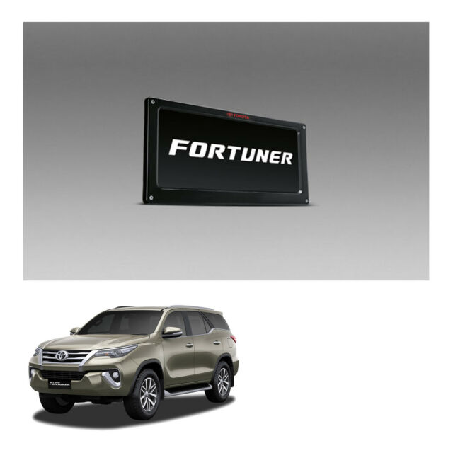 License Plate Frame Holder V1 Genuine Trim Black for Toyota FORTUNER ...