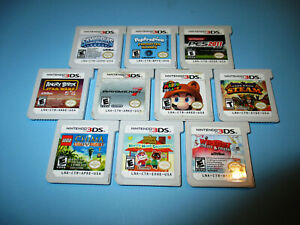 Lot-of-10-Nintendo-3DS-Games-Mario-Kart-3D-Land-Animal-Crossing-Angry-Birds