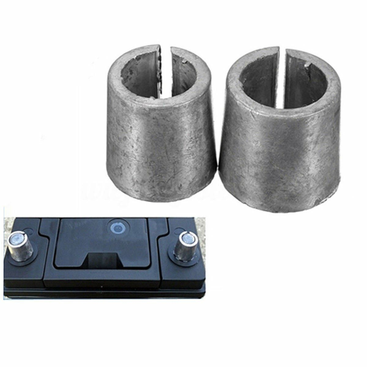 2 x Car Battery Terminal Post Converters Adaptors Sleeves 1xPOS+1x NEG Set uS