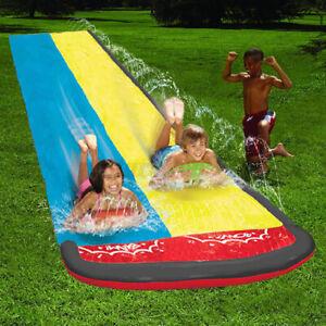 6-1m-20ft-Dual-Kids-Inflatable-Water-Slide-Summer-Garden-Water-Splash-Fun-a