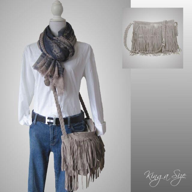 BAG Tasche *** Schultertasche / Unhängetasche  Handtasche Wildleder-Look FRANSEN