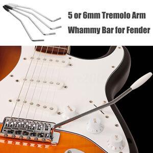 5mm 6mm guitar tremolo arm whammy bar for fender squier strat black white tip ebay. Black Bedroom Furniture Sets. Home Design Ideas