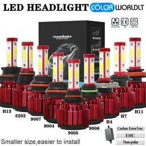 4 Side 9004 9005 9006 9007 H4 H7 H11 H13 H16 H10 LED Headlight Fog Bulbs Kit US