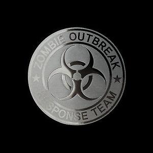 "Zombie Outbreak Response Vehicle Windshield Decal  Car Truck Biohazard 40/"""