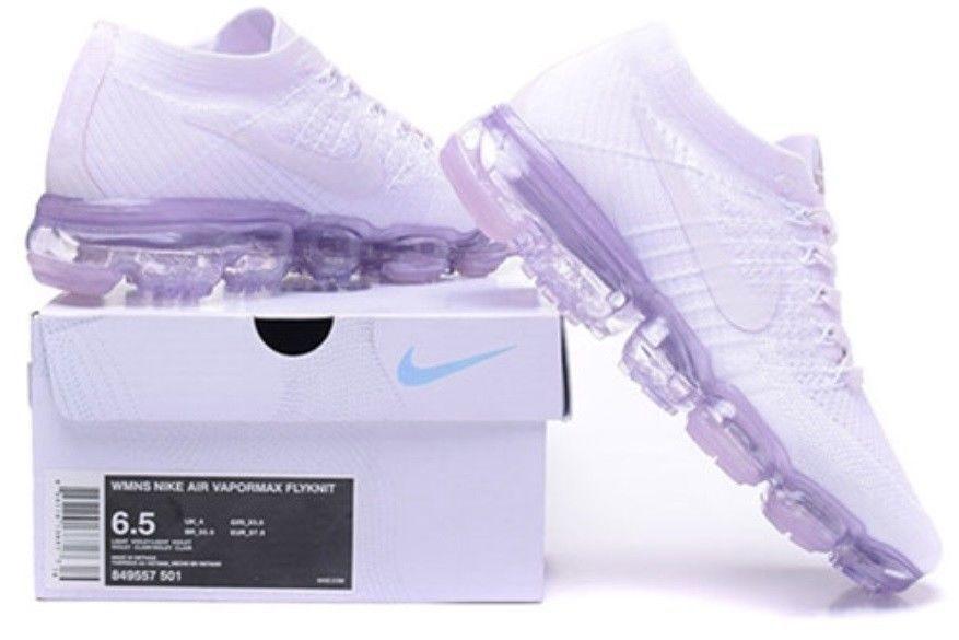 Women's Nike Air Vapormax Sneakers - White/Purple US 7 (38)