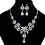 Fashion-Bib-Choker-Crystal-Pendant-Statement-Necklace-Earrings-Party-Jewelry-Set thumbnail 34
