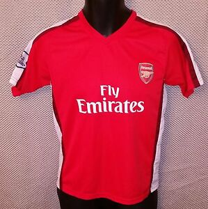 designer fashion 7d6b1 073df Details about Arsenal FC Cesc Fabregas Official Red Home Soccer Jersey EUC  - Boys Large 12/14