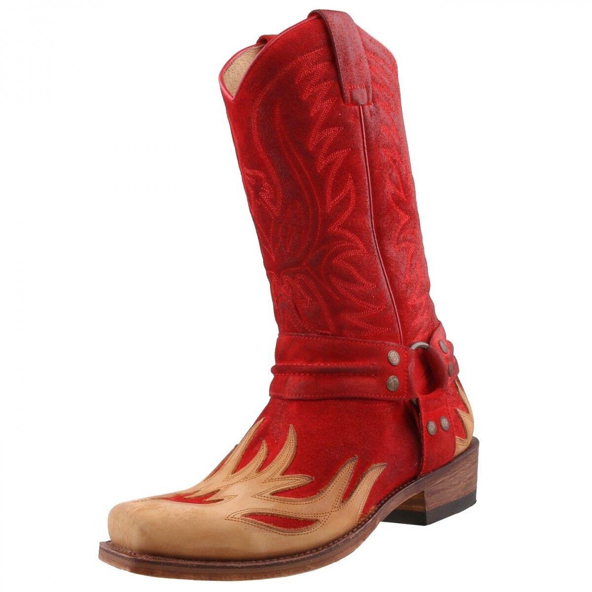 Nuevo Sendra botas Zapatos Hombre de Motociclista Piel