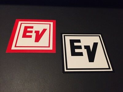 Electro Voice Stickers 3x3 Red White 2pcs