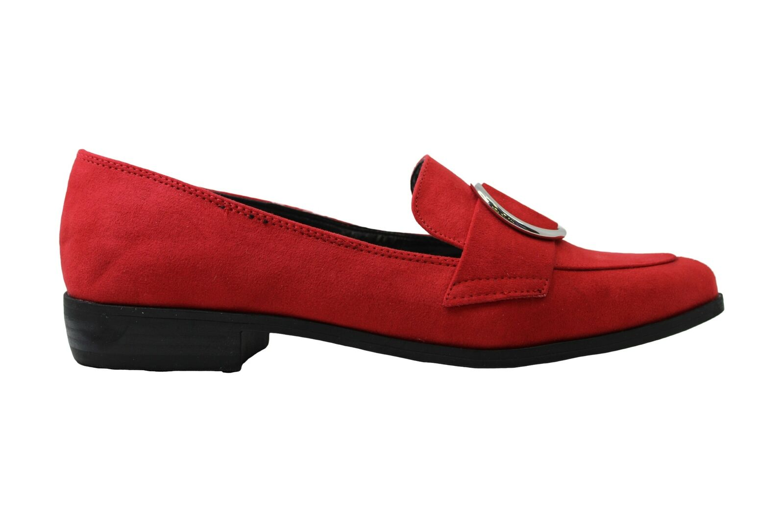 Bar III Womens Involve5 Fabric Pointed Toe Loafers, Red MC, Size 7.5 US / 5.5 UK