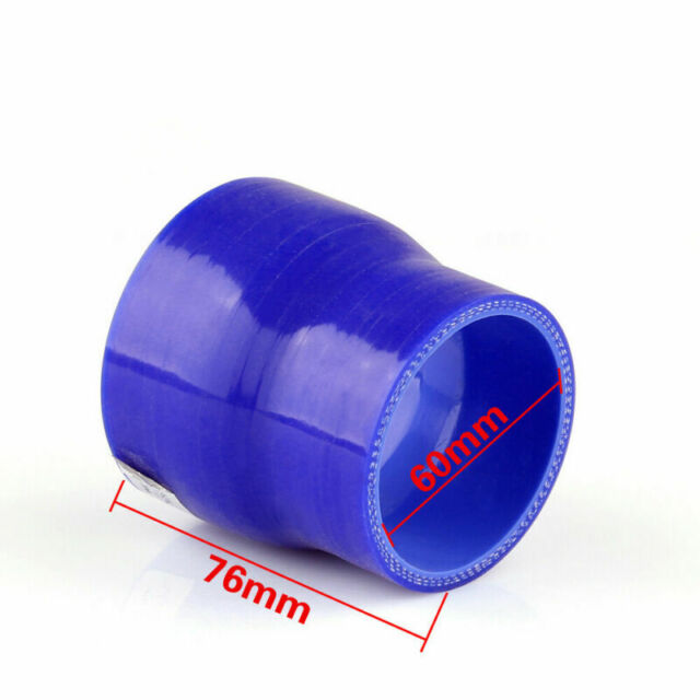 Reducers 0 Degree 60mm 76mm Silicone Tuyau Coupler Intercooler Turbo Intake Bu A