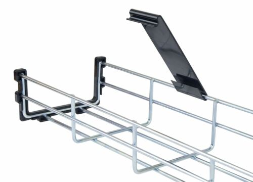 Under Desk Basket Cable Tray  w// Mounting Bracket Cover /& Plastic End caps
