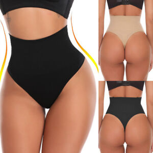 US-Body-Shaper-Sexy-Thong-G-String-High-Waist-Tummy-Control-Invisible-Shapewears