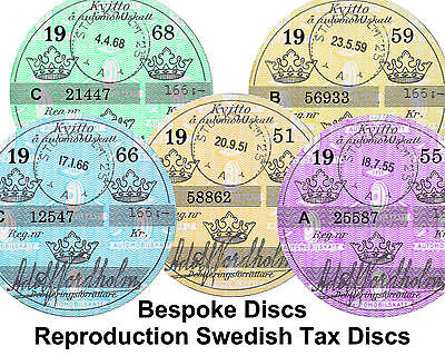 Replica Reproduction Vintage Italian Tax Disc Lambretta Vespa Piaggio Bespoke