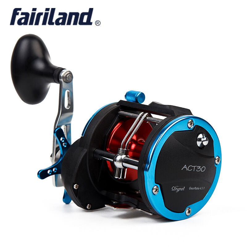 Drum Trolling Fishing  Reel Aluminum Level Wind Drag Right Handed Spinning Wheels  at the lowest price
