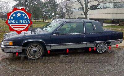 Stainless Steel Pillar Post Chrome Trim 4PC For Cadillac Eldorado 1989-1990