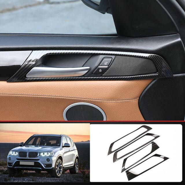 For BMW X3 X4 2014-2017 F25 F26 Carbon Fiber Interior Door