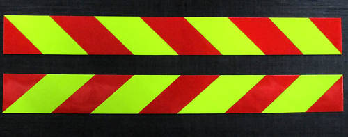 Magnetic Side Chevrons Reflective + Fluorescent 900mm