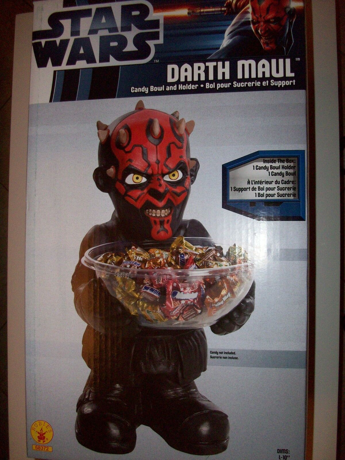 STAR WARS DARTH MAUL CANDY HOLDER PARTY DECORATION MINT RARE(VADER YODA HAN SOLO