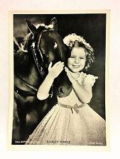 "Shirley Temple 1937 Union Dresden Film Star Ser 9 5""X7"" Cigarette Photo Card"
