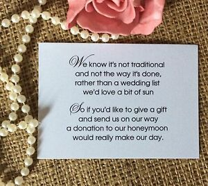 Image Is Loading Wedding Gift Money Poem Small Cards Asking
