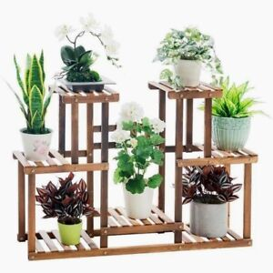 Image is loading Premium-Wooden-Plant-Stand-Garden-Planter-Flower-Pots-  sc 1 st  eBay : flower pots stands - startupinsights.org
