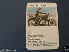 8-MOTOREN 7A VAN VEEN OCR 1000 WANKEL KWARTET KAART MOTORCYCLES,SPIELKARTE