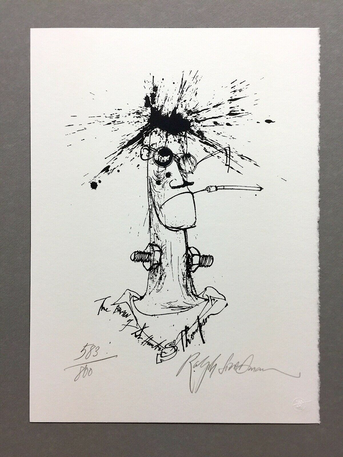 "Ralph Steadman ""Brain of Hunter S. Thompson"" - Signed - Lt Ed Print  #583 of 800 on eBay thumbnail"