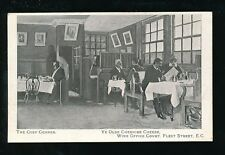 LONDON Fleet St Ye Olde Cheshire Cheese Wine Office Court pre1919 PPC