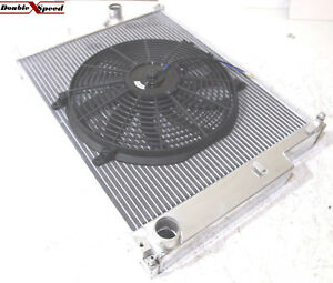 "Dual Core Radiator+12/"" Fans for 03-09 Nissan 350Z 2D Manual Transmission 2 Row 2"