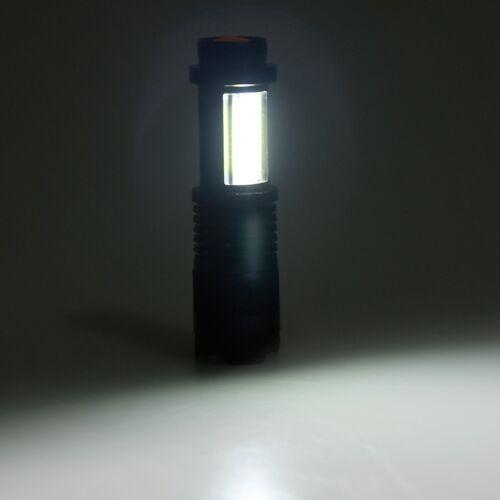 20000LM Superhell XPE+COB Q5 LED Mini Taschenlampe Zoom Focus Flashlight 4 Modi