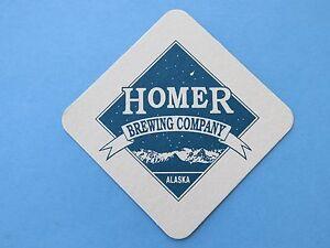 Alaskan Bière dessous de Verre ~ Homer Brewing Co~ Alaska; Est. 1996~Montagnes & 22pM94LN-09102737-298840750