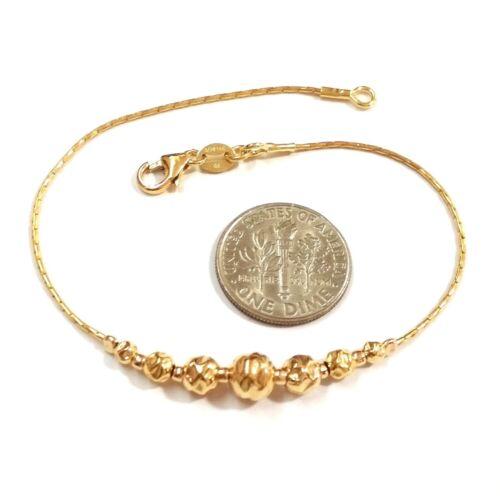 14kt Gold Filled gradué martelé perles bracelet-fait à votre taille