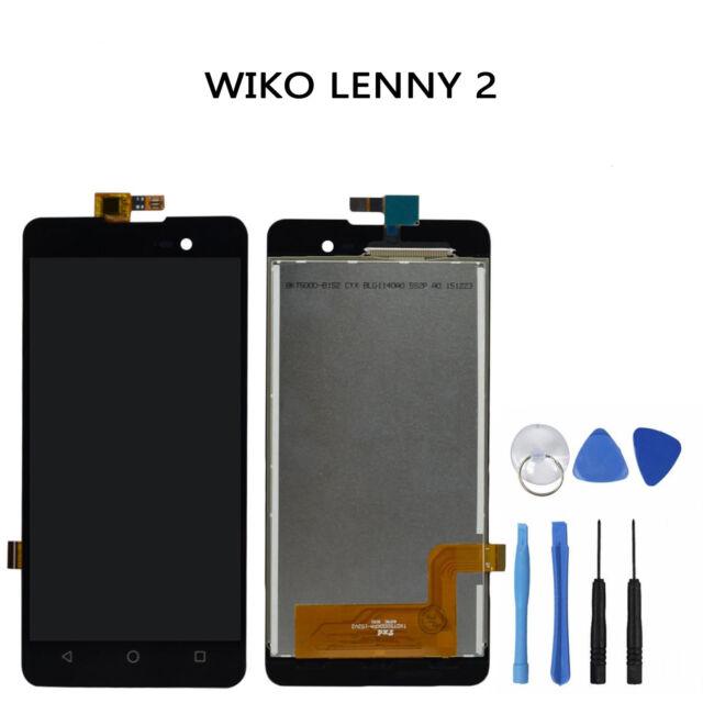 VITRE TACTILE + ÉCRAN COMPLET LCD WIKO LENNY 2   + OUTIL