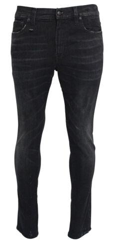 31 R13 Mens Jeans Skate Black Marble r13mn019940 NERA SLIM DENIM TG NUOVO