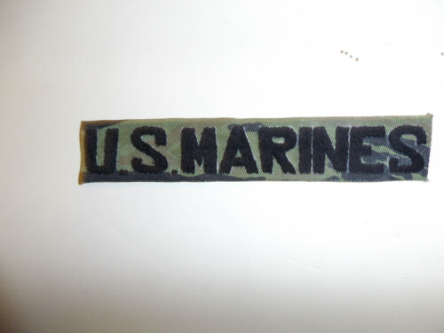 0358s USMC US Marines name tape Tiger Stripe small hand embroidered local R7B