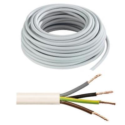 Heat Core 1.5mm² x 15m White 3 CORE FLEX NEW Resistant Flexible Cable 3183TQ 3