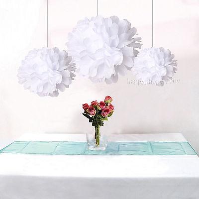 12pcs Mix 3 size Wedding Party Home Decoration Tissue Paper Pom Poms  flower